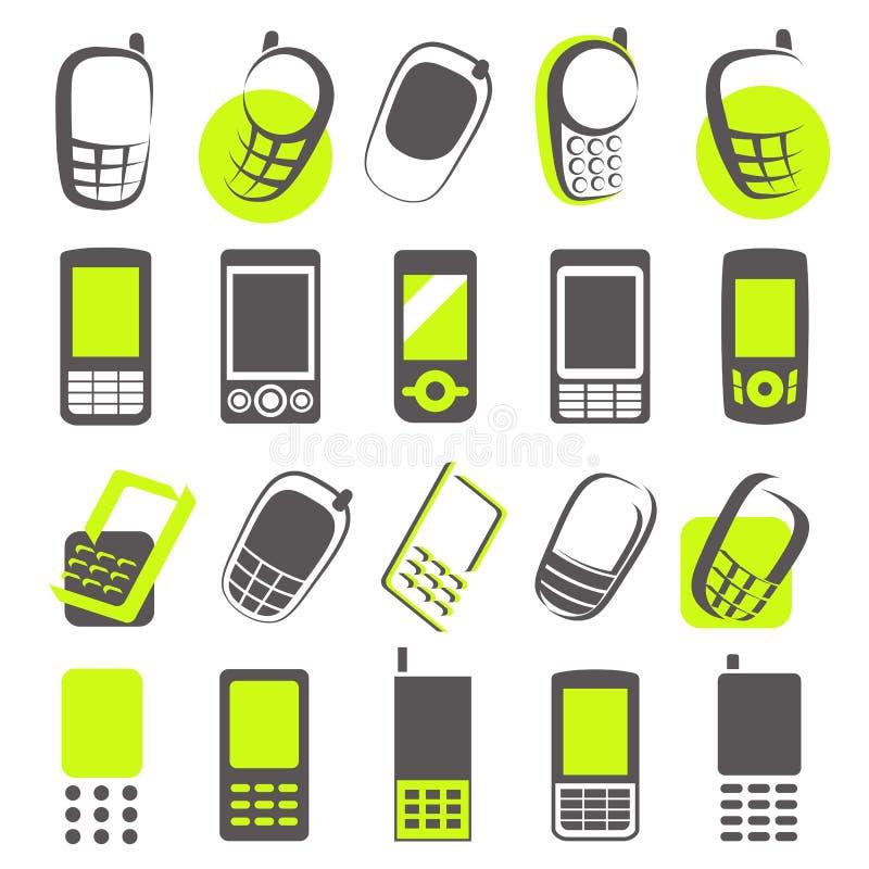 téléphones portables d'éléments de conception illustration stock