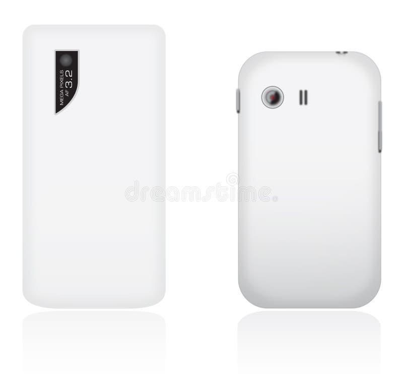 Téléphones portables de vecteur image libre de droits