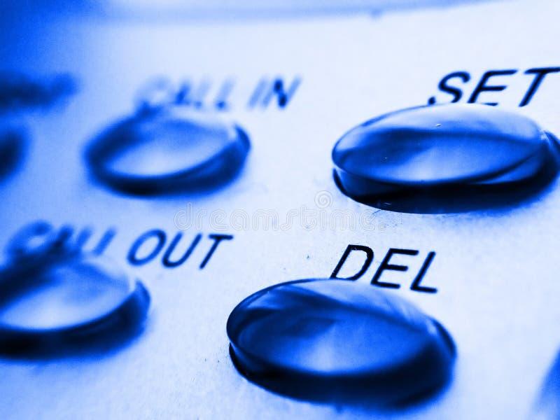 Téléphonez aux boutons images libres de droits