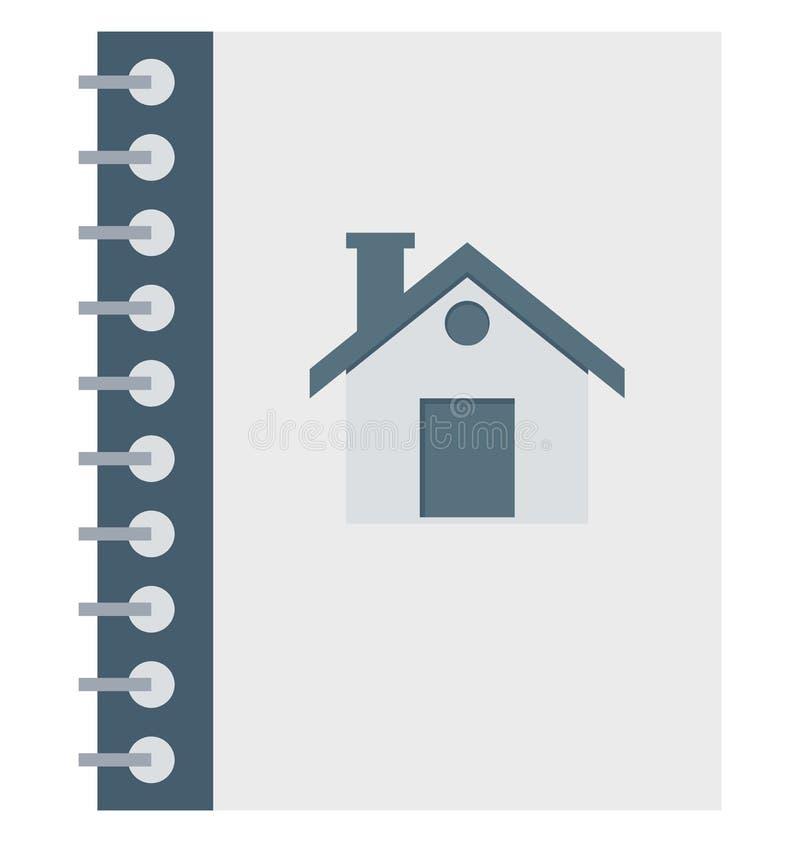Téléphonez l'annuaire, icônes d'isolement de vecteur d'annuaire téléphonique peut être modifient avec n'importe quel style illustration stock