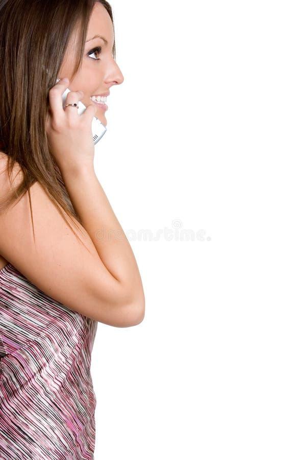 Téléphonez le femme photos libres de droits