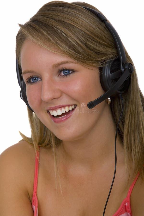 Téléphoniste utile aussi images stock