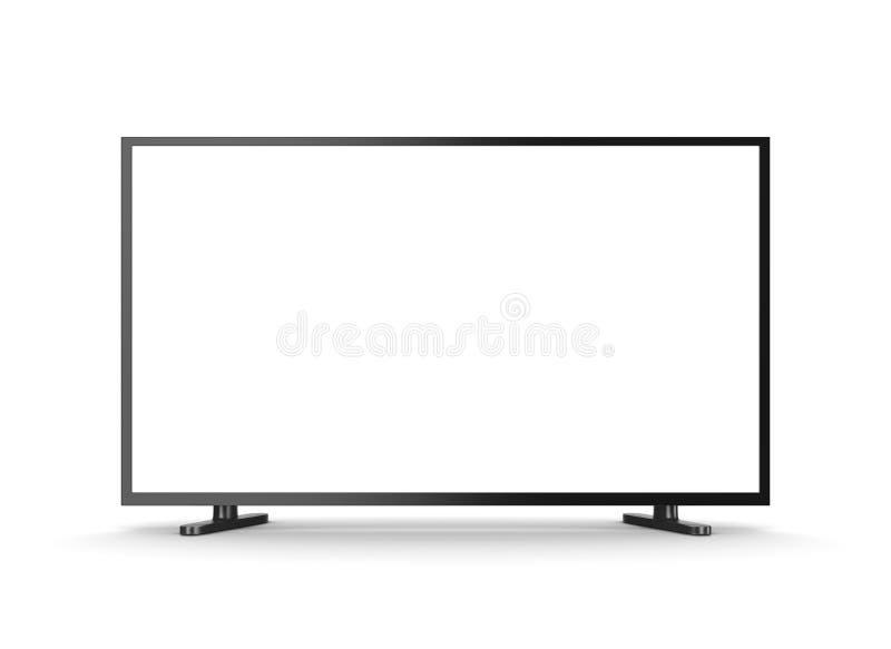 Téléviseur avec l'écran vide illustration stock