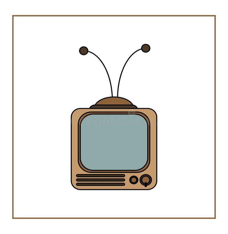 Téléviseur de vintage images libres de droits