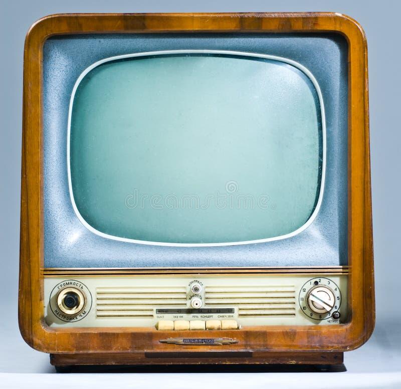 Téléviseur soviétique de legs photographie stock