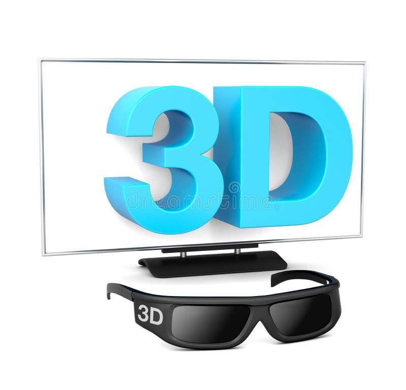 télévision 3D illustration de vecteur