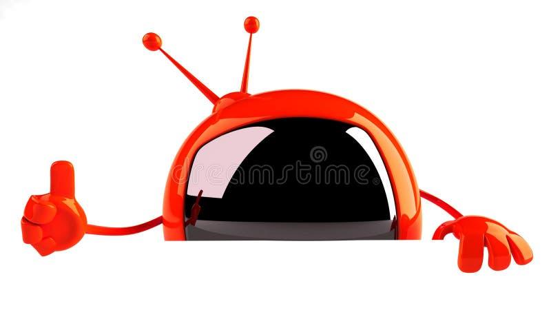 Télévision avec un signe blanc illustration de vecteur