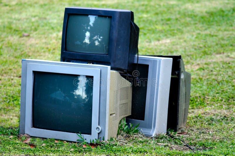 Télévision cassée photos stock