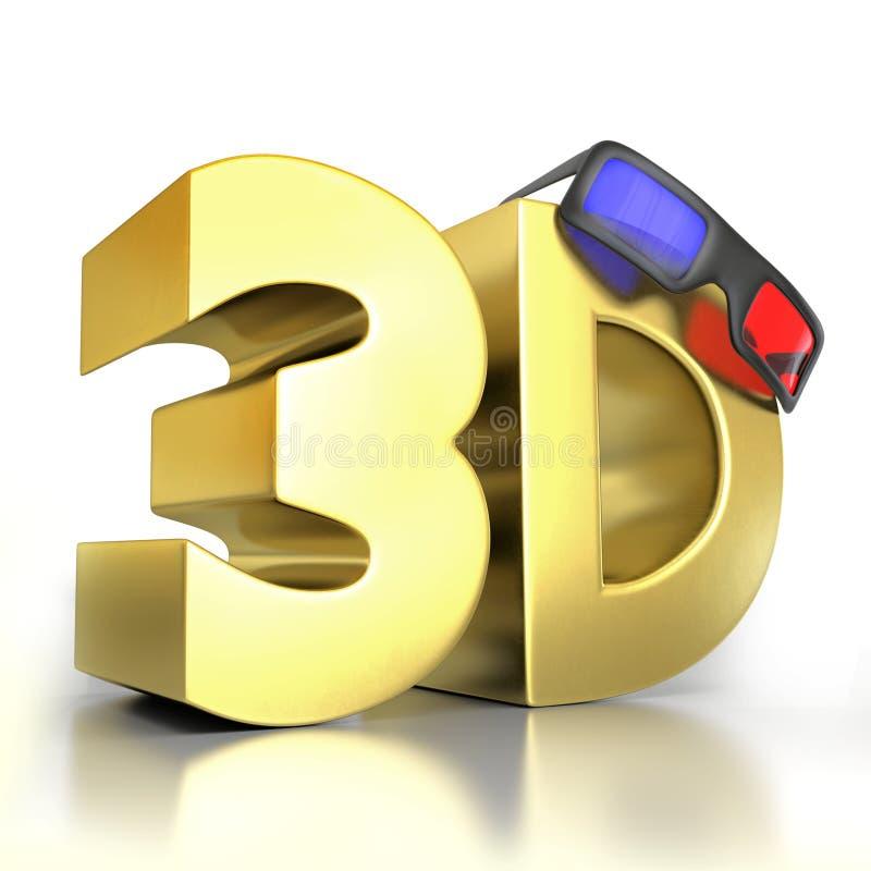 télévision 3D illustration libre de droits