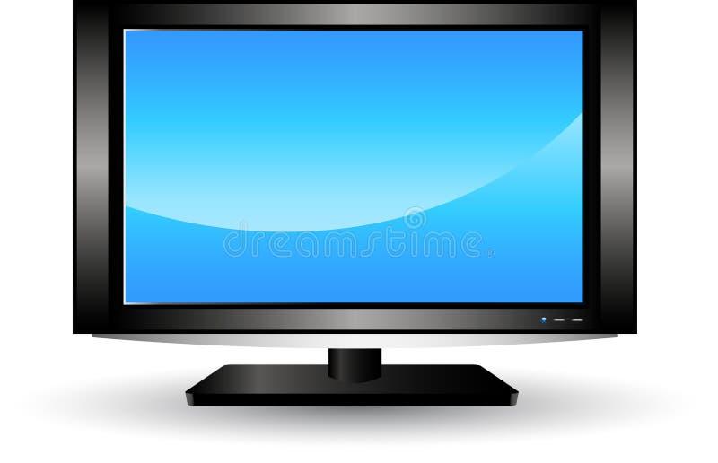 Télévision d'affichage à cristaux liquides illustration libre de droits
