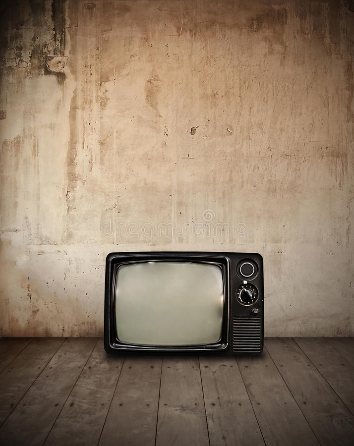 Télévision dans la chambre photo stock