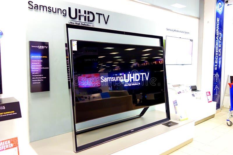 Télévision de Samsung UHDTV photos libres de droits
