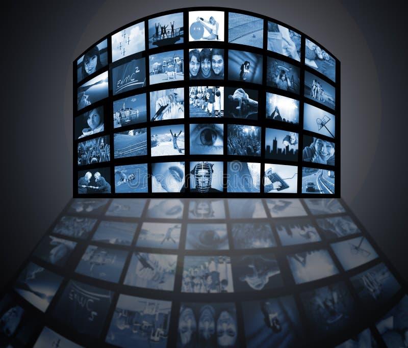 télévision de technologie de medias photos stock