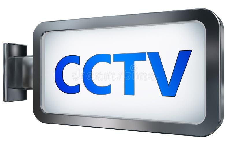 Télévision en circuit fermé sur le fond de panneau d'affichage illustration libre de droits