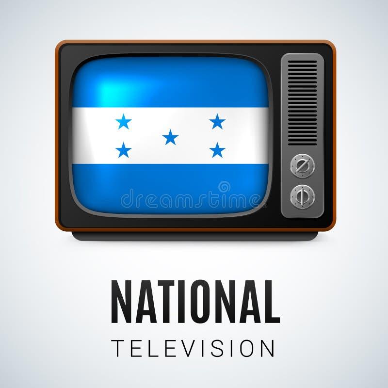 Télévision nationale illustration stock