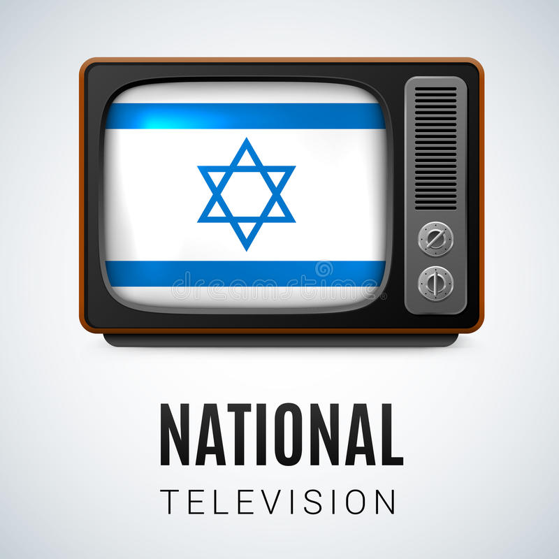 Télévision nationale illustration de vecteur