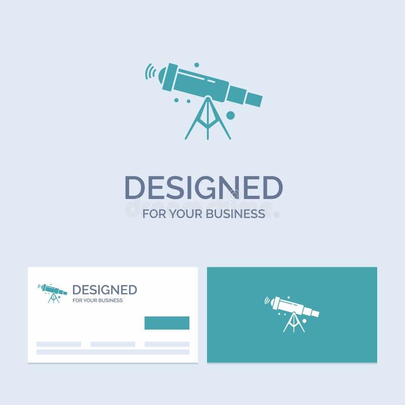 télescope, astronomie, l'espace, vue, affaires Logo Glyph Icon Symbol de bourdonnement pour vos affaires Cartes de visite profess illustration de vecteur