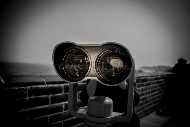 Télescope sur la Grande Muraille photo libre de droits