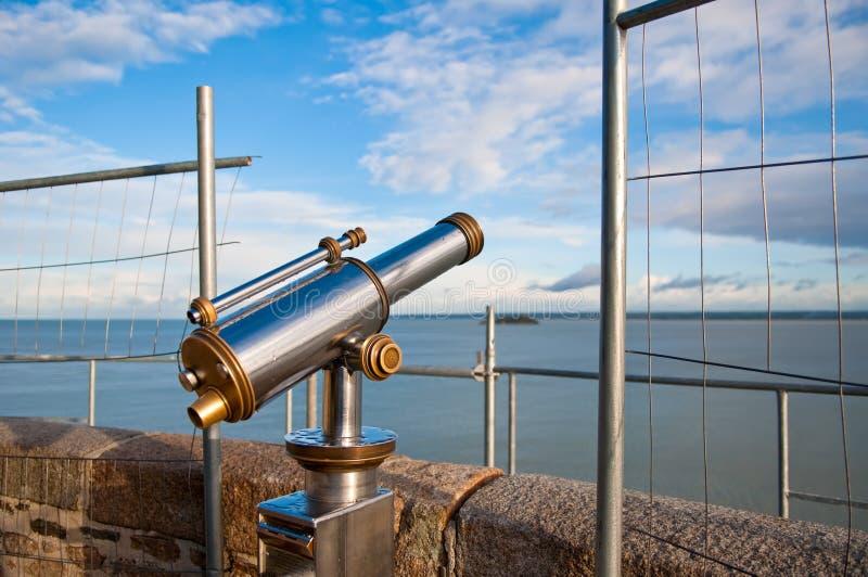 Télescope sur le point de vue, France photo libre de droits