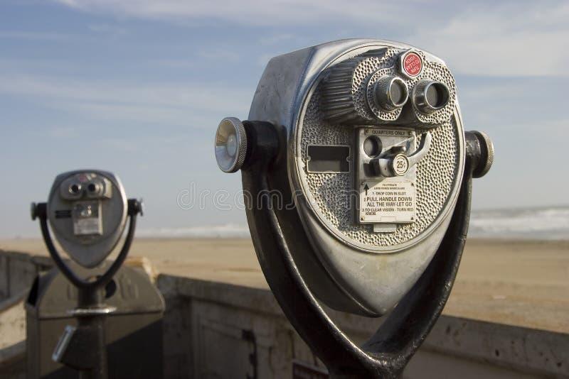 Télescopes de touristes photos stock