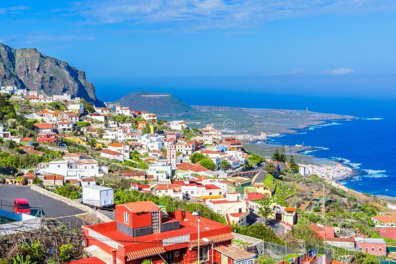 Ténérife, Îles Canaries, Espagne : Aperçu d'un coloré et d'un bea images stock