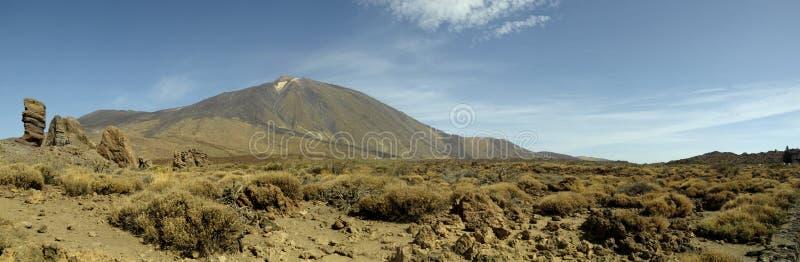 Ténérife - panoramique de Volcano Teide photographie stock