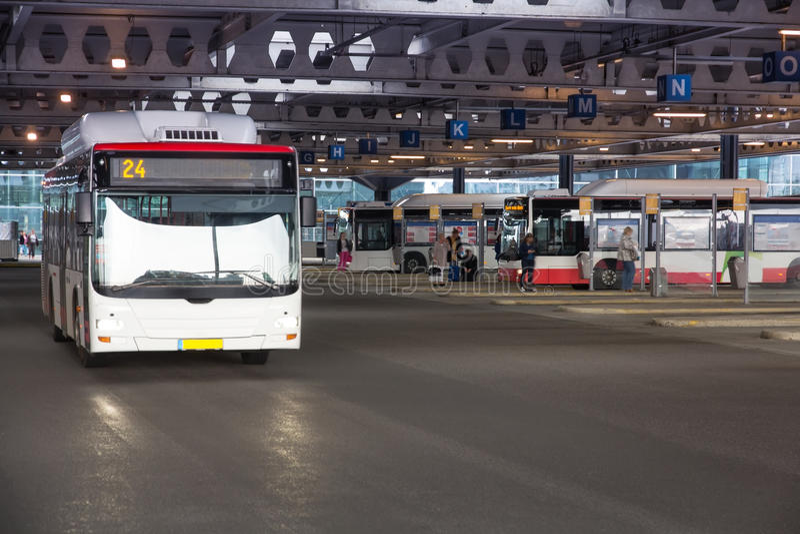 Término de autobuses foto de archivo libre de regalías