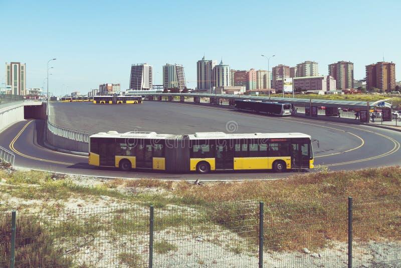 Término de autobuses fotografía de archivo