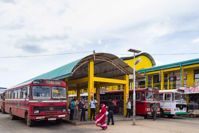 Término de autobuses en Trincomalee, Sri Lanka fotos de archivo
