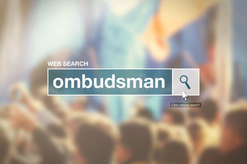Término del glosario de la barra de la búsqueda del web - Defensor del Pueblo stock de ilustración