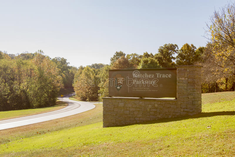 Término do norte de Natchez Trace Parkway foto de stock royalty free