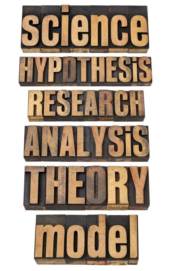 Términos relacionados de la ciencia y de la investigación imagen de archivo