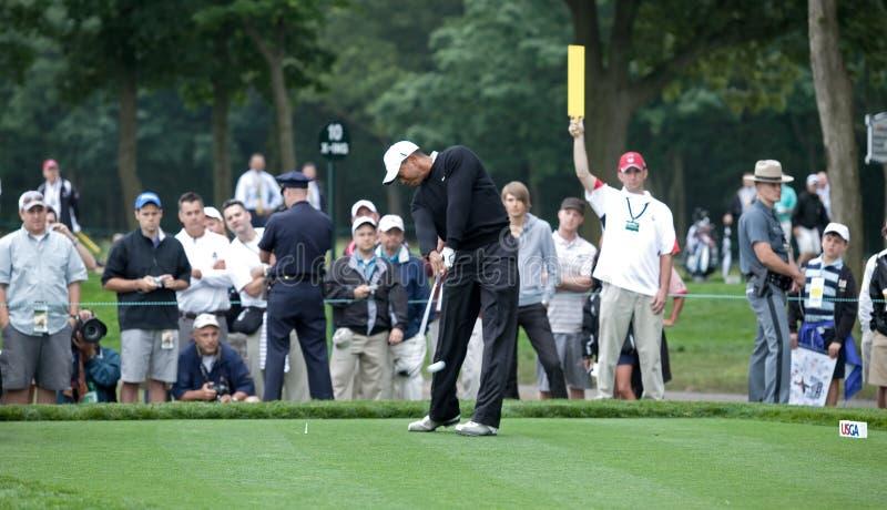 Tés de Tiger Woods hors fonction photographie stock libre de droits