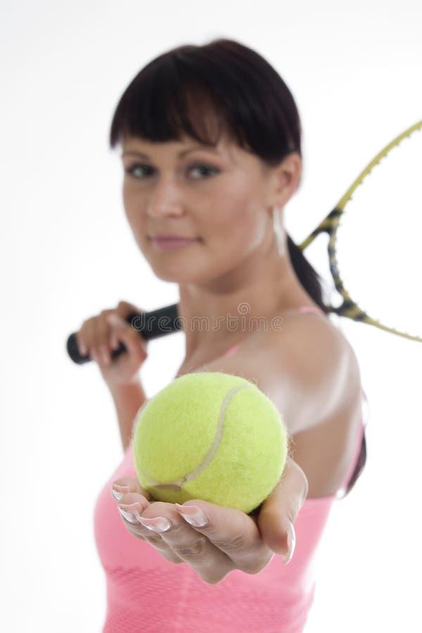 Tênis da mulher - jogador. imagens de stock royalty free