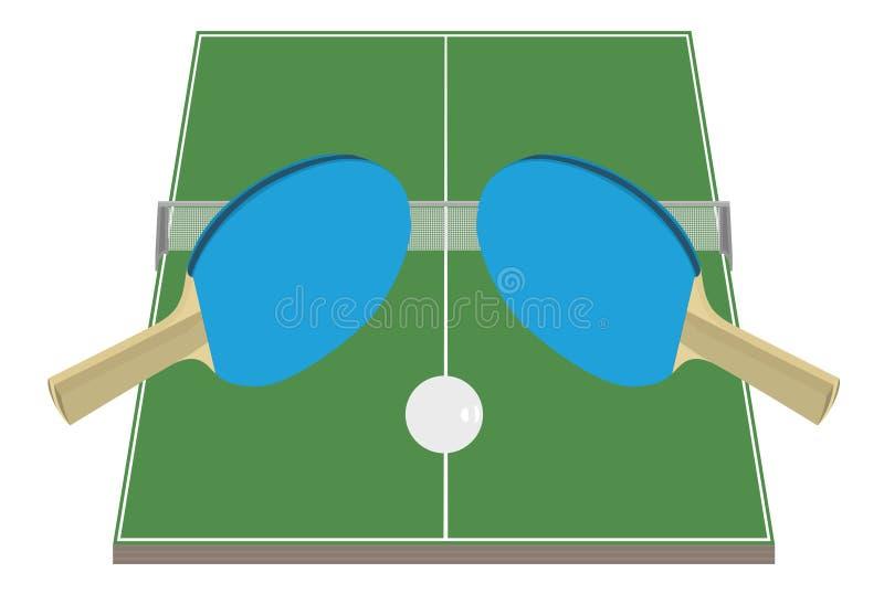 Tênis de tabela ilustração royalty free