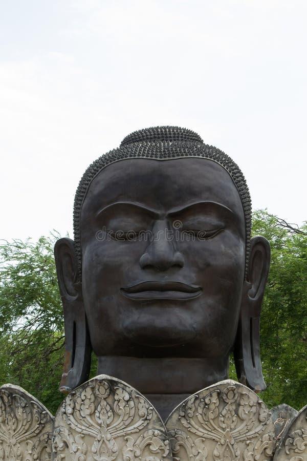 Tête énorme de Bouddha photographie stock libre de droits
