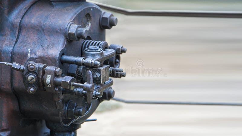 Tête antique de moteur à combustion interne photographie stock