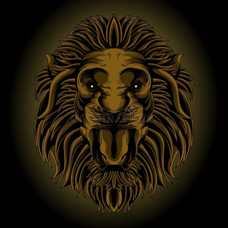 Tête classique de lion illustration stock