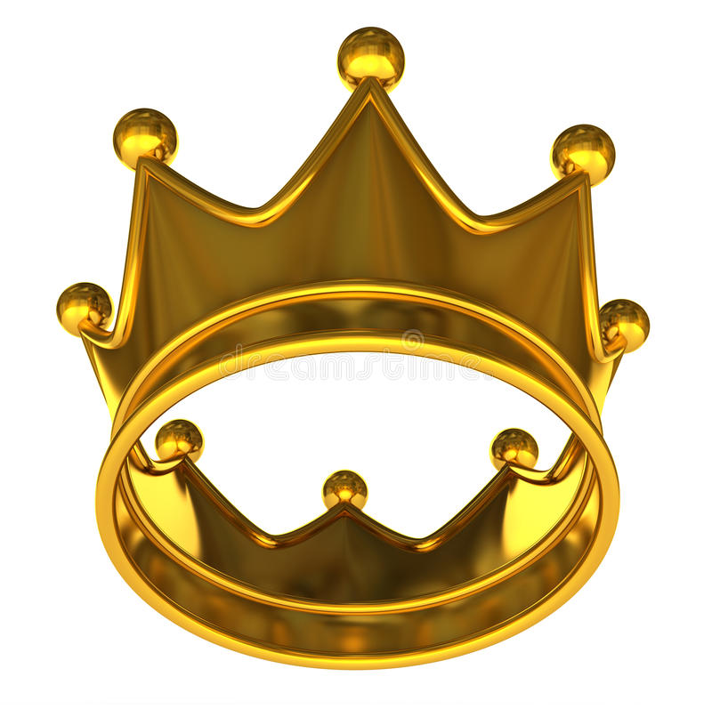Tête d'or illustration de vecteur