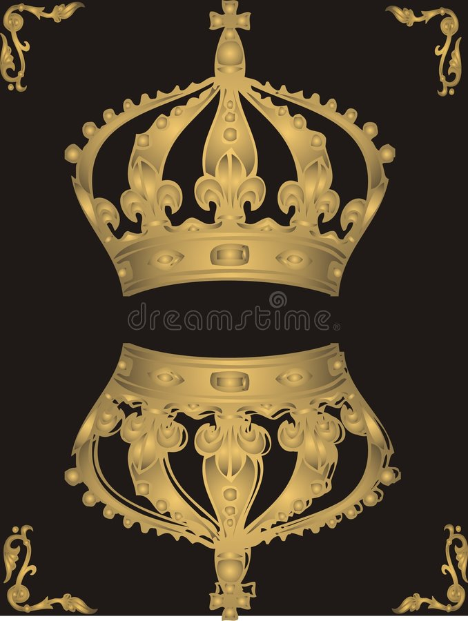 Tête d'or illustration stock