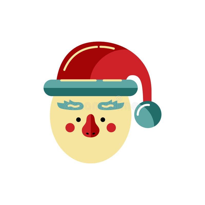 Tête d'aide de Santa Claus illustration libre de droits