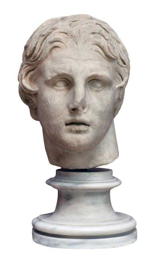 Tête d'Alexandre le grand photo libre de droits