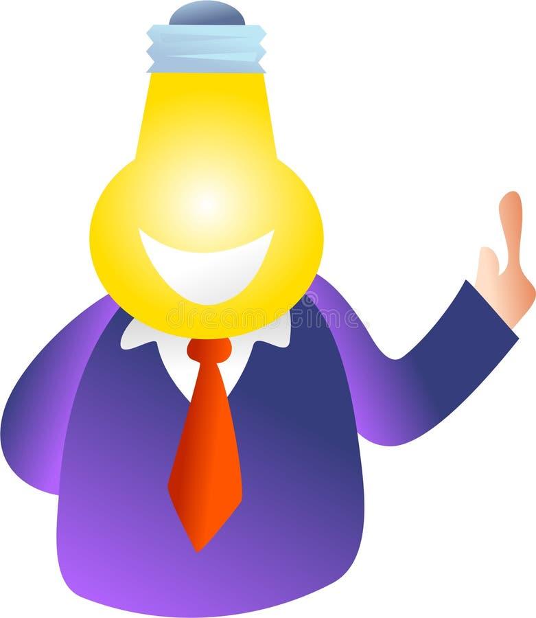 Tête d'ampoule illustration de vecteur