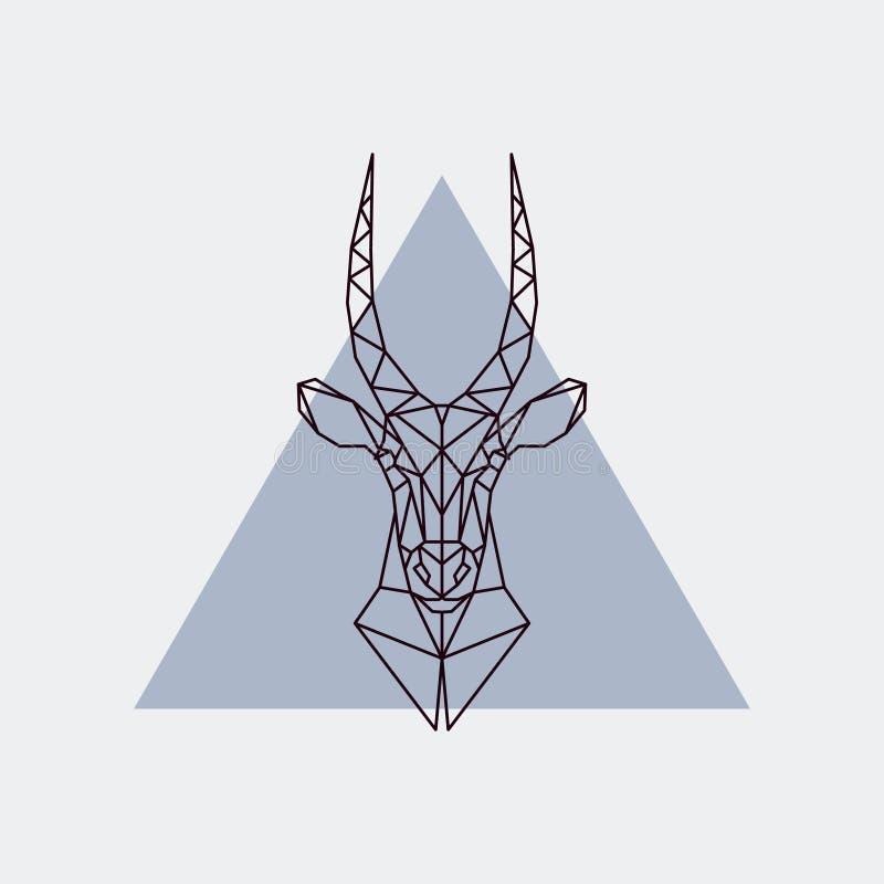 Download Tête D'antilope Dans Le Style Polygonal Illustration de Vecteur - Illustration du afrique, animal: 87709715