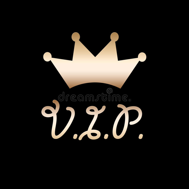 Tête d'or de VIP illustration stock