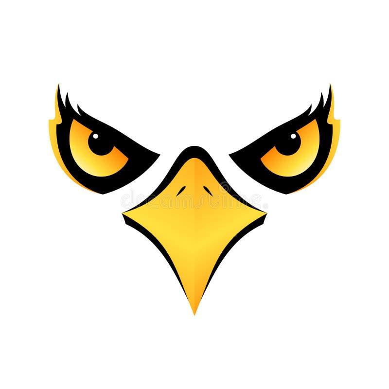 Tête d'Eagle sur l'icône blanche eps10 de fond illustration libre de droits