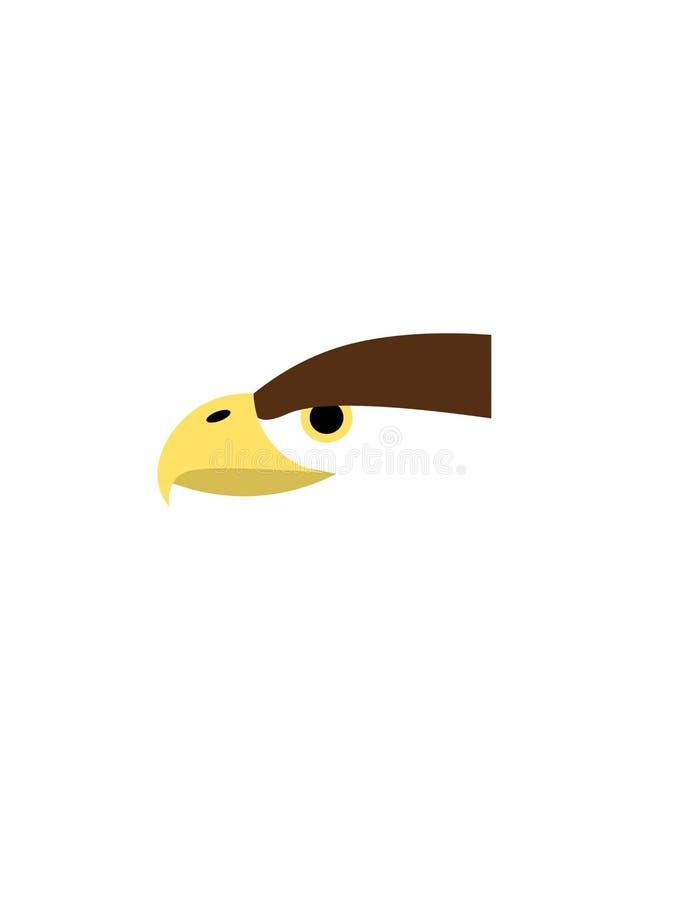 Tête d'Eagle sur un fond blanc illustration libre de droits