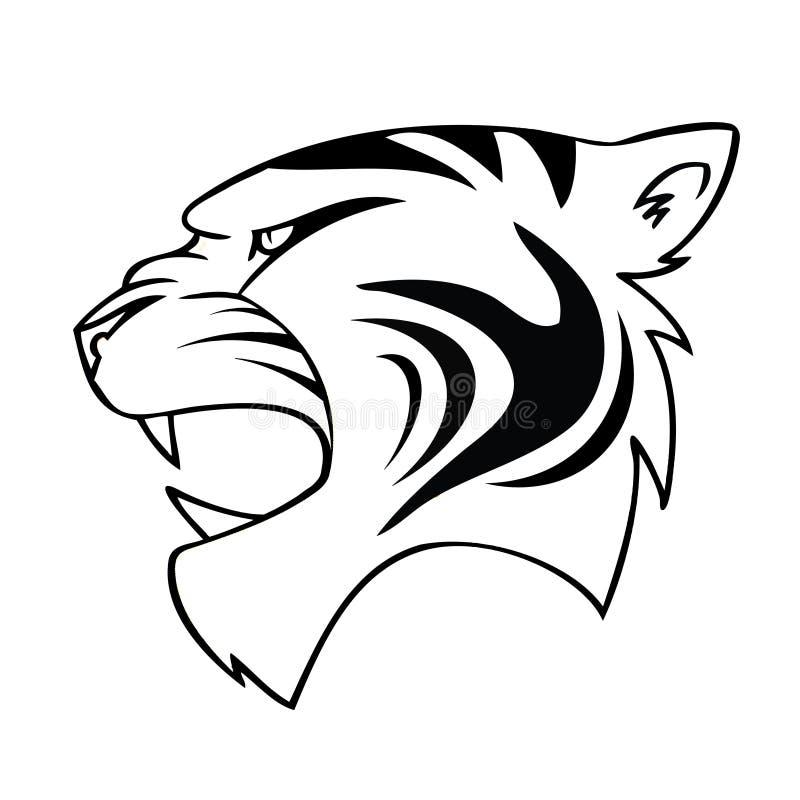T te d 39 isolement de tigre de dessin anim illustration de vecteur illustration du cartoon - Dessin de tigre facile ...