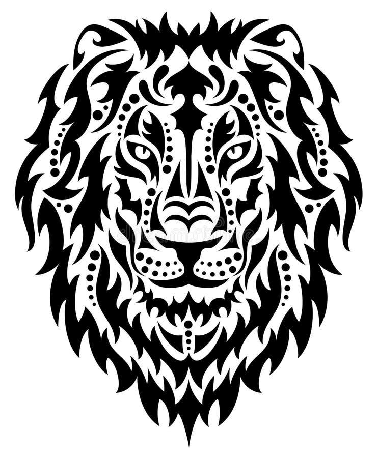 Tête d'un lion illustration de vecteur