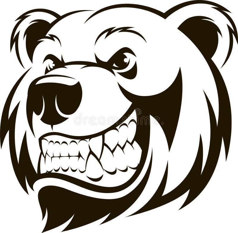 Tête d'un ours gris illustration libre de droits